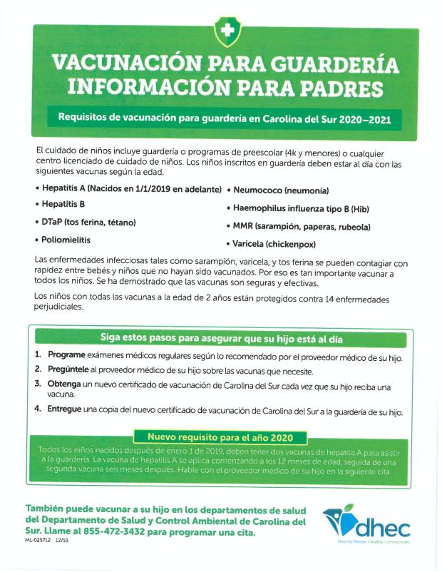 childcareimmunizationSPANISH